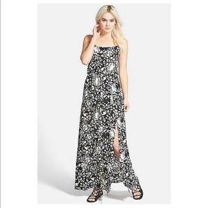 Leith Floral Print Cutout Maxi Dress Size M